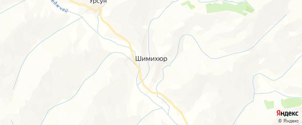 Карта села Шимихюра в Дагестане с улицами и номерами домов