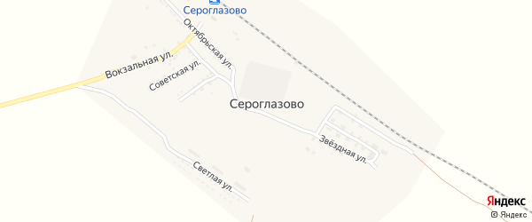 Вокзальная улица на карте поселка Сероглазово с номерами домов