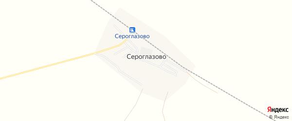 Карта поселка Сероглазово в Астраханской области с улицами и номерами домов