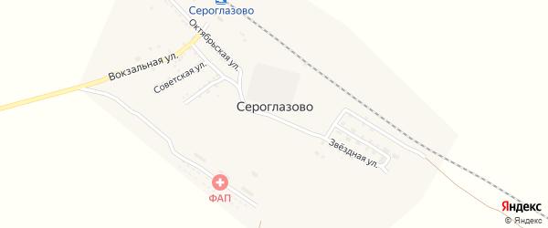 Улица Нефтяников на карте поселка Сероглазово с номерами домов