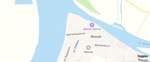 Садовая улица на карте Ямного села с номерами домов
