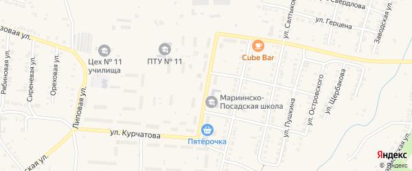 Улица Ломоносова на карте Мариинского Посада с номерами домов