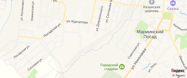СТ 2 на карте Мариинского Посада с номерами домов
