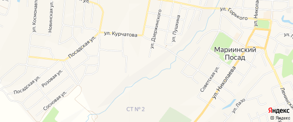 СТ 1 на карте Мариинского Посада с номерами домов