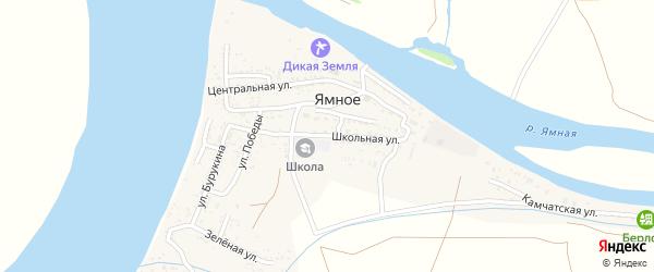 Школьная улица на карте Ямного села с номерами домов