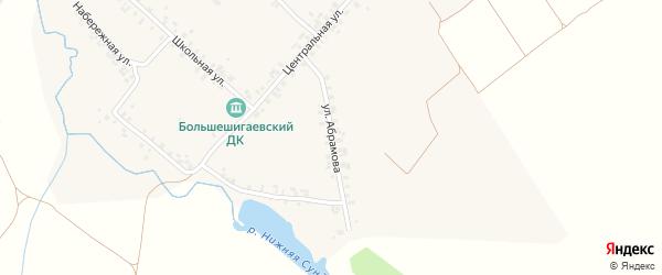 Улица Абрамова на карте деревни Большого Шигаево с номерами домов
