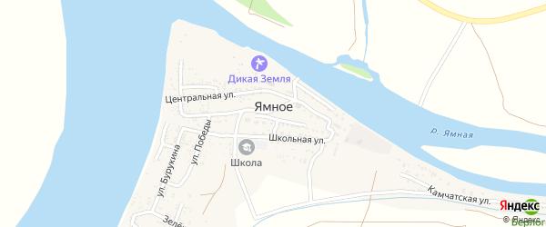 Камчатская улица на карте Ямного села с номерами домов