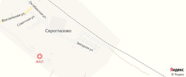 Свободная улица на карте поселка Сероглазово с номерами домов