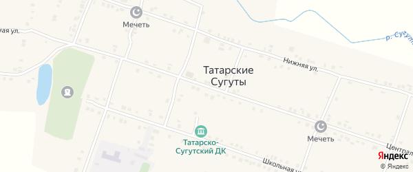 Центральная улица на карте деревни Татарские Сугуты с номерами домов