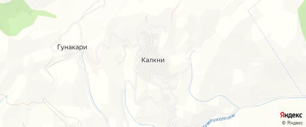 Карта села Калкни в Дагестане с улицами и номерами домов