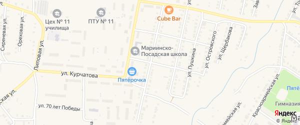 Улица Дзержинского на карте Мариинского Посада с номерами домов