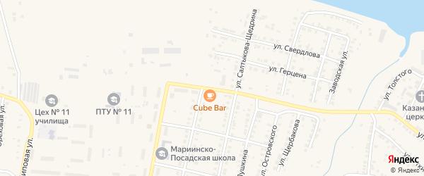 Улица Котовского на карте Мариинского Посада с номерами домов