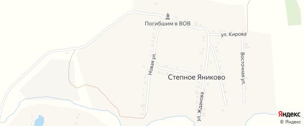 Новая улица на карте деревни Степное Яниково с номерами домов