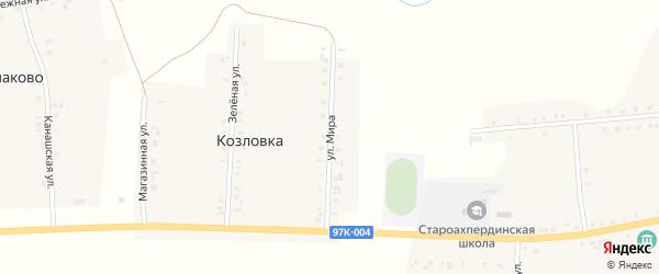 Улица Мира на карте деревни Козловки с номерами домов