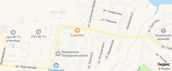 Улица Салтыкова-Щедрина на карте Мариинского Посада с номерами домов