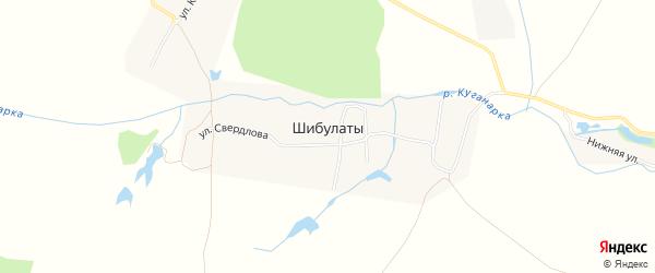 Карта деревни Шибулаты в Чувашии с улицами и номерами домов