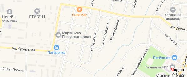 Улица Пушкина на карте Мариинского Посада с номерами домов