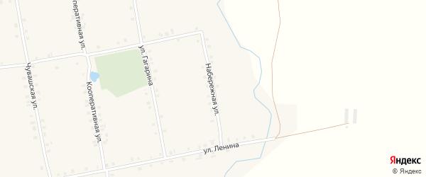 Набережная улица на карте села Новое Ахпердино с номерами домов