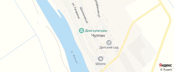 Улица Гагарина на карте села Чулпана с номерами домов