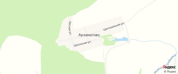 Карта деревни Арзаматово в Чувашии с улицами и номерами домов