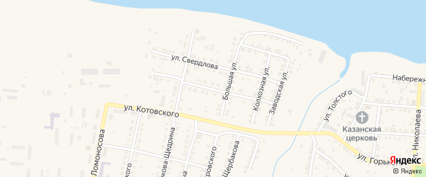 Улица Герцена на карте Мариинского Посада с номерами домов