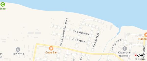 Улица Свердлова на карте Мариинского Посада с номерами домов