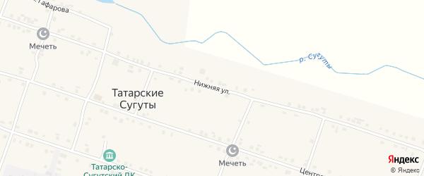 Нижняя улица на карте деревни Татарские Сугуты с номерами домов