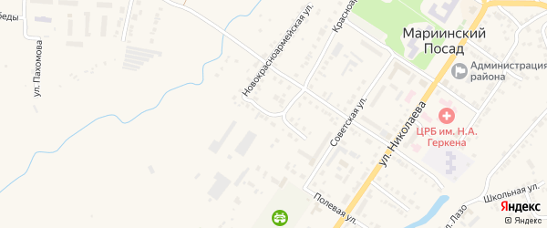 Улица Чапаева на карте Мариинского Посада с номерами домов