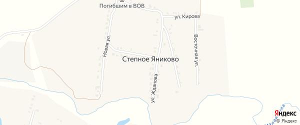Улица Лермонтова на карте деревни Степное Яниково с номерами домов