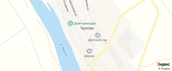 Школьная улица на карте села Чулпана с номерами домов