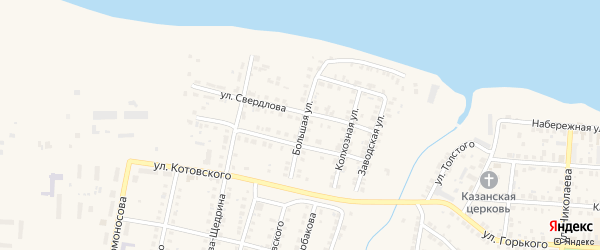 Большая улица на карте Мариинского Посада с номерами домов