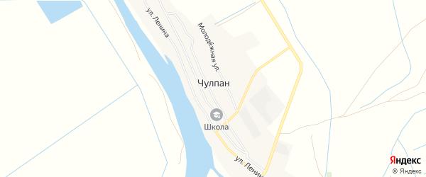 Карта села Чулпана в Астраханской области с улицами и номерами домов