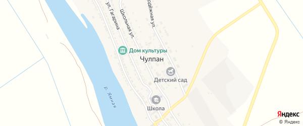 Молодежная улица на карте села Чулпана с номерами домов