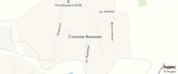 Улица Жданова на карте деревни Степное Яниково с номерами домов