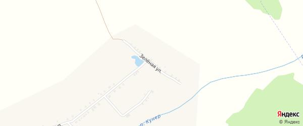 Зеленая улица на карте деревни Старого Акташево с номерами домов