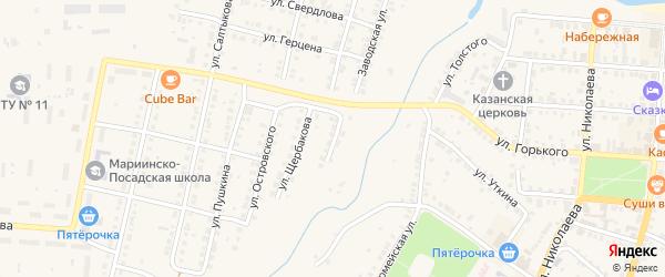 Улица Плеханова на карте Мариинского Посада с номерами домов