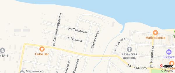 Колхозная улица на карте Мариинского Посада с номерами домов