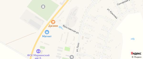 Ярославская улица на карте Мариинского Посада с номерами домов