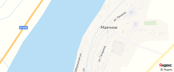 Набережная улица на карте Маячного села с номерами домов