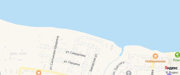 Улица Степана Разина на карте Мариинского Посада с номерами домов