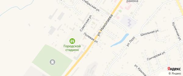 Полевая улица на карте Мариинского Посада с номерами домов