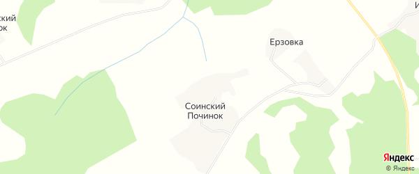 Карта деревни Соинского Починка в Архангельской области с улицами и номерами домов