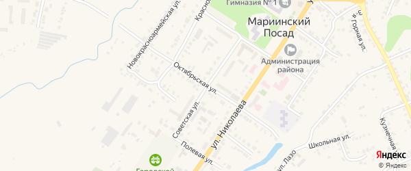 Советская улица на карте Мариинского Посада с номерами домов