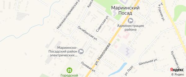 Рябиновая улица на карте Мариинского Посада с номерами домов