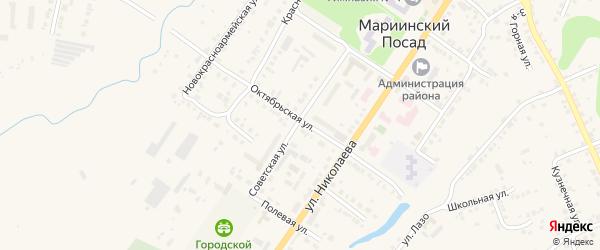 2-я Придорожная улица на карте Мариинского Посада с номерами домов