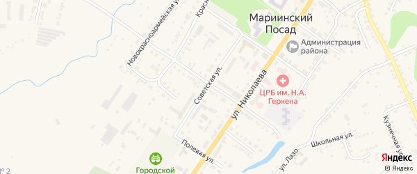 Улица Добролюбова на карте Мариинского Посада с номерами домов