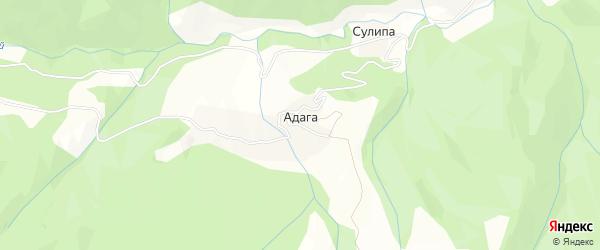 Карта села Адага в Дагестане с улицами и номерами домов