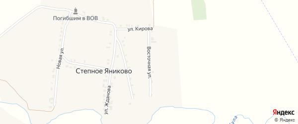 Восточная улица на карте деревни Степное Яниково с номерами домов