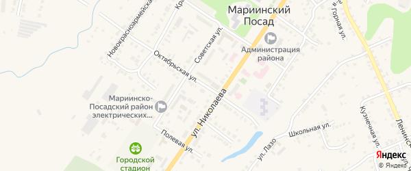Октябрьская улица на карте Мариинского Посада с номерами домов
