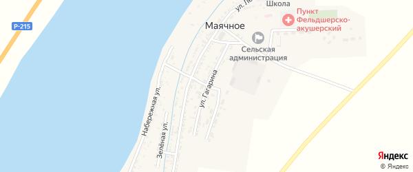 Улица Гагарина на карте Маячного села с номерами домов